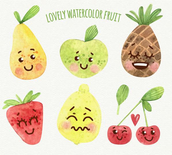 彩绘表情水果