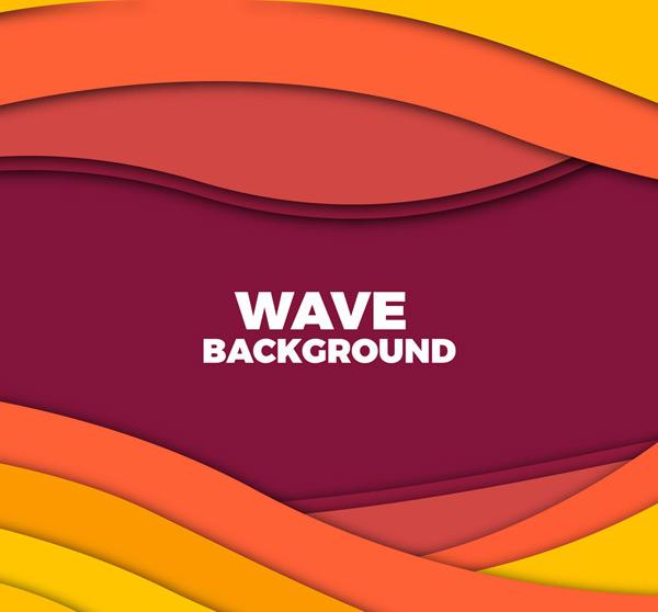 彩色波浪背景