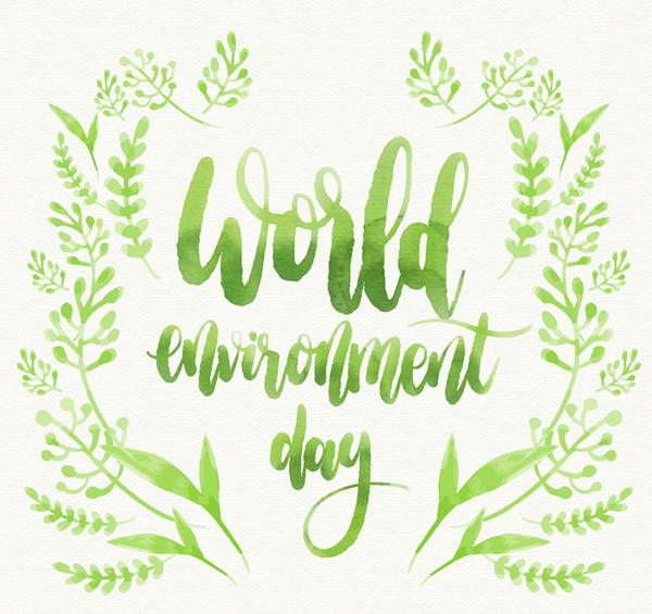 世界环境日艺术字