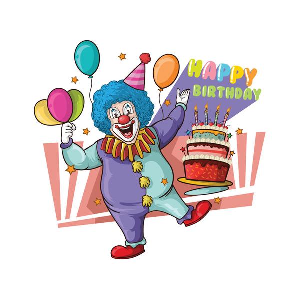 素材分类: 矢量生日所需点数: 0 点 关键词: 彩绘生日派对小丑矢量
