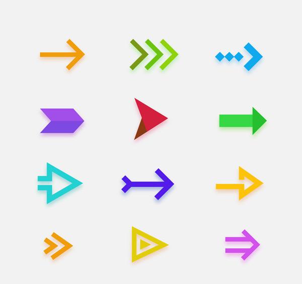 彩色箭头图标