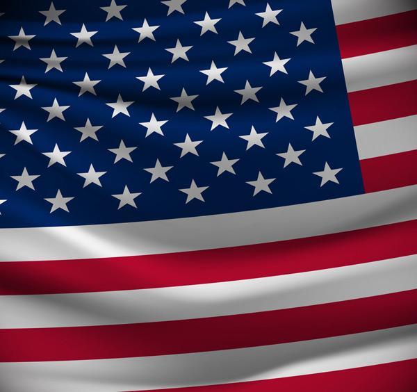 逼真美国国旗