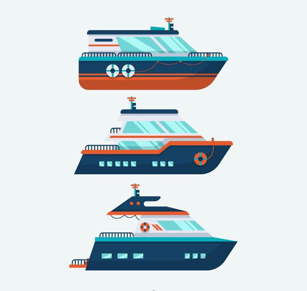 游艇设计矢量
