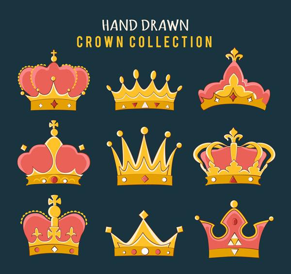 手绘王冠设计