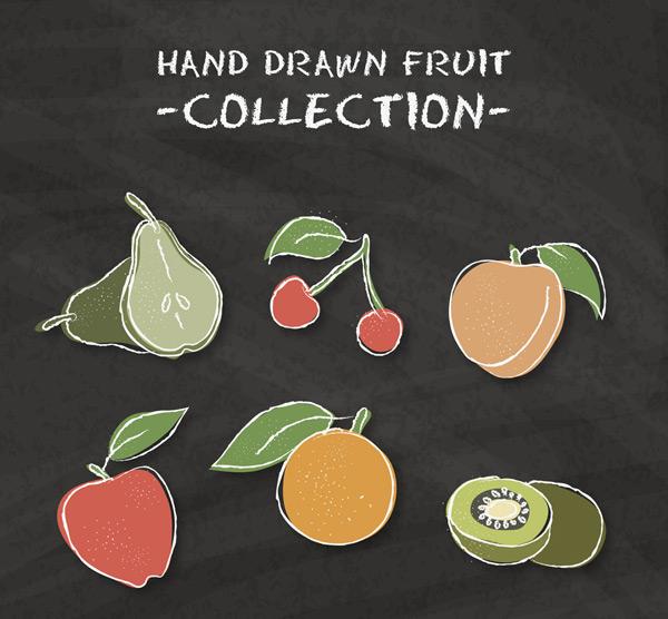 手绘水果矢量