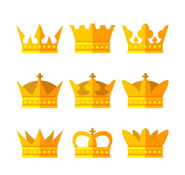 扁平化金色王冠