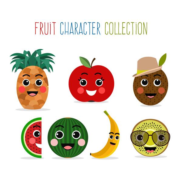 可爱笑脸水果