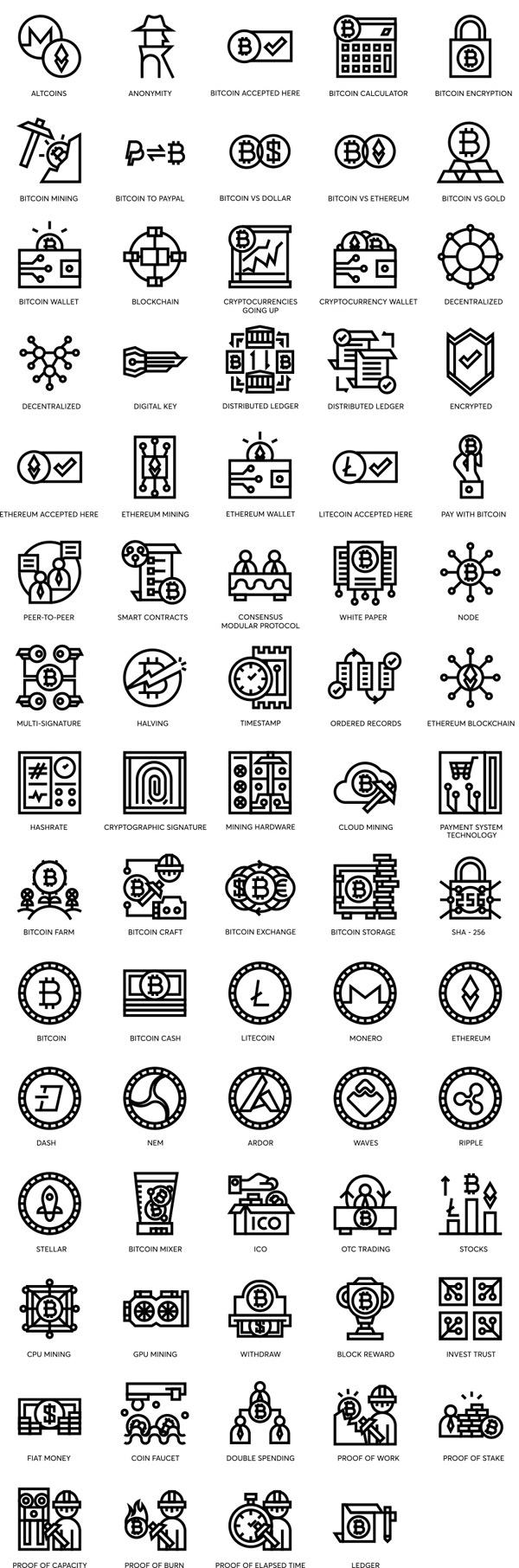 虚拟货币图标