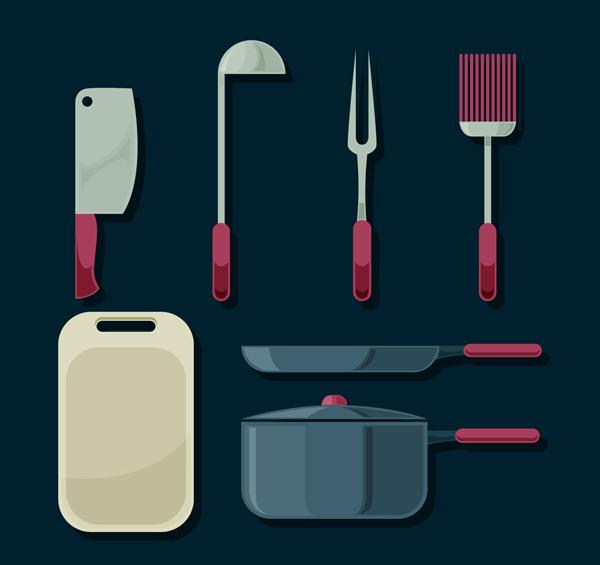 素材分类: 矢量餐具厨具所需点数: 0 点 关键词: 7款创意厨具设计
