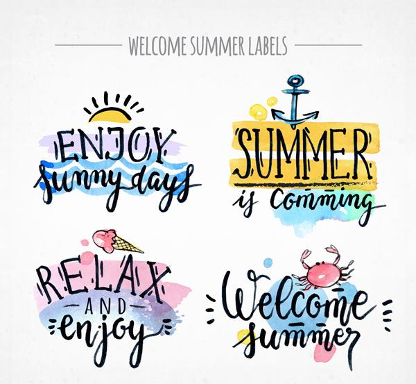 夏季度假艺术字