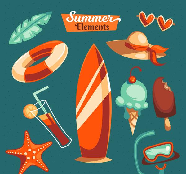 夏日假期元素