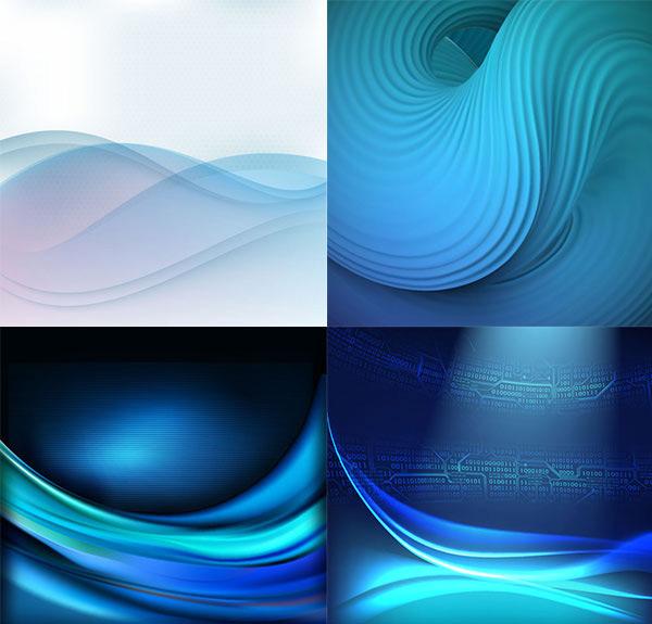 蓝色波浪背景