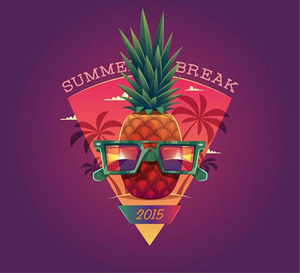 夏季海报矢量