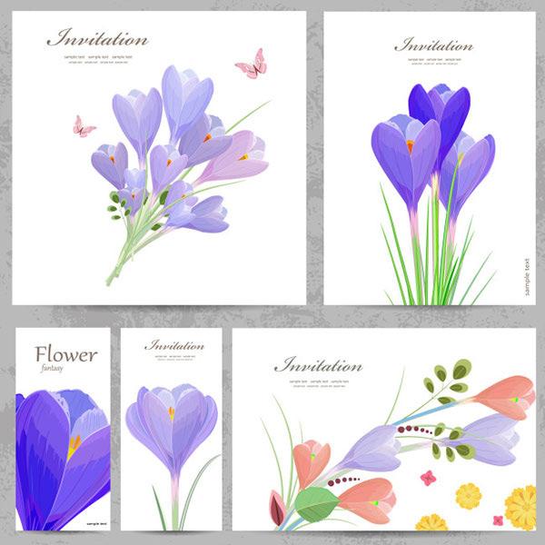 花朵装饰邀请卡