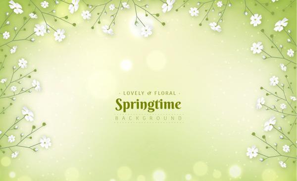素材分类: 矢量背景所需点数: 0 点 关键词: 绿色春天背景,卡通,矢量