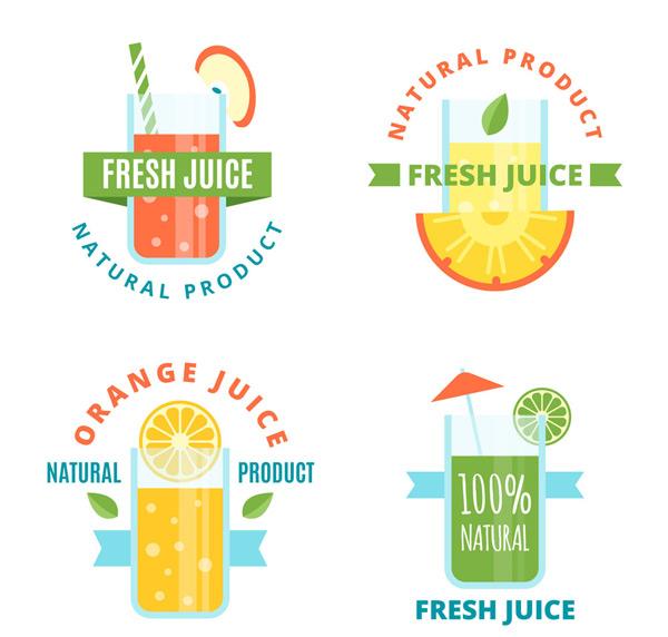 新鲜果汁标签