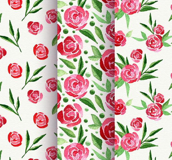 玫瑰花无缝背景
