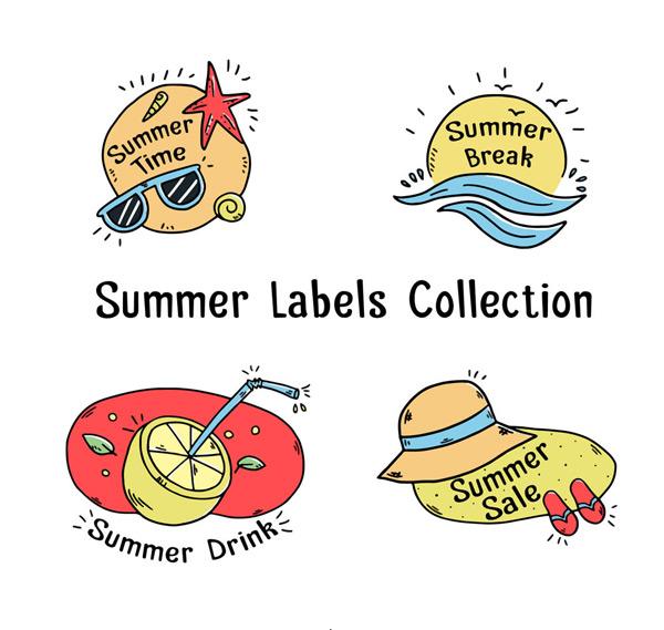 夏季标签设计