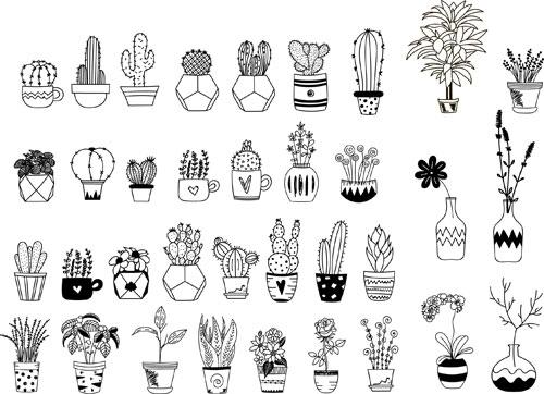 矢量素材,矢量图,设计素材,创意设计,几何,图形,多边形,仙人掌,植物