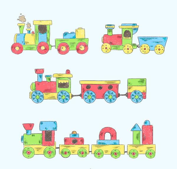0 点 关键词: 4款手绘玩具火车设计矢量图,积木,手绘,玩具,玩具火车