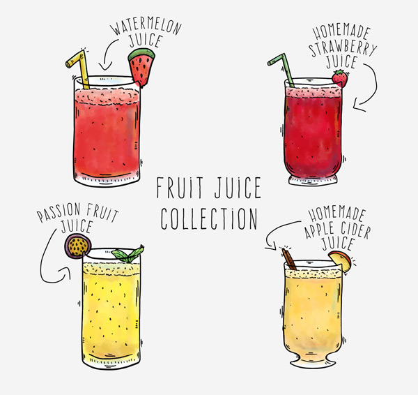 杯装果汁矢量
