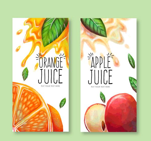 橙子和苹果果汁