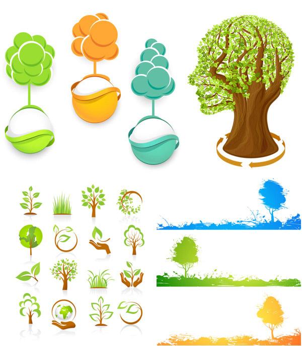 环保 素材 矢量/环保图标矢量...