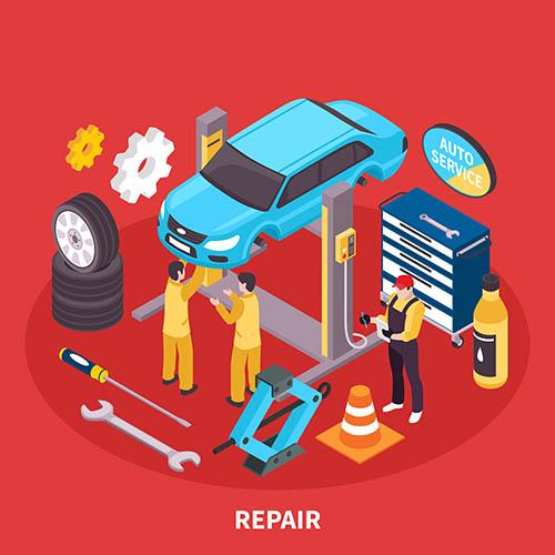0 点 关键词: 汽车维修矢量图,设计素材,汽车,轿车,汽修,维修,修理工
