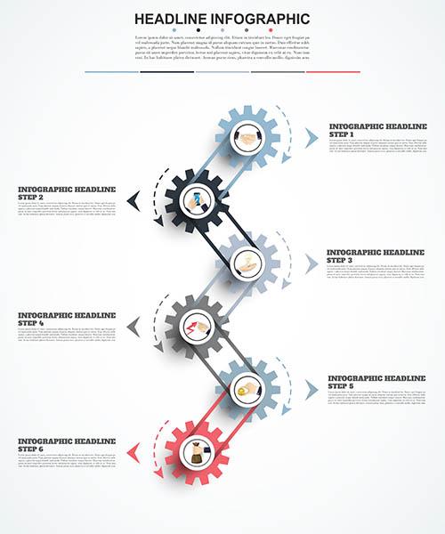 设计素材,创意设计,信息图表,流程图表,步骤图表,几何,抽象,图形,图标