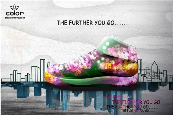 新潮运动鞋海报