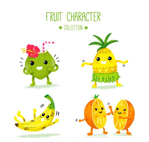素材分类: 矢量卡通其它所需点数: 0 点 关键词: 4款可爱表情水果矢量