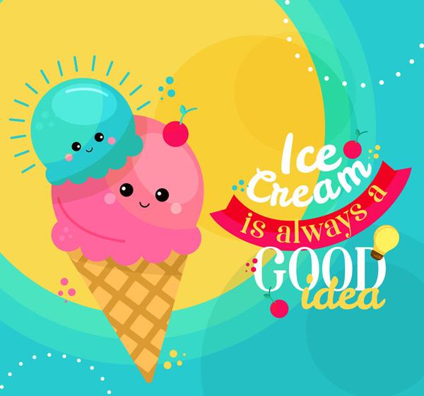 点 关键词: 可爱表情甜筒冰淇淋矢量素材,太阳,表情,甜筒冰淇淋,雪糕