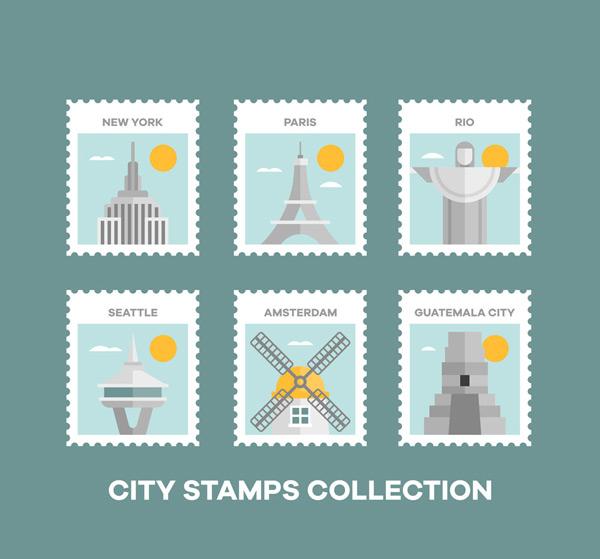 世界名胜邮票