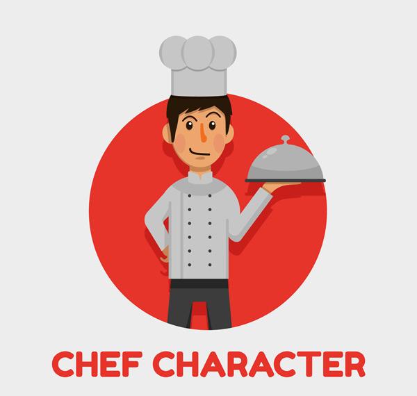 创意男厨师矢量