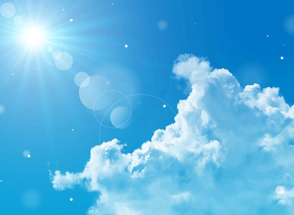 晴朗天空和云朵