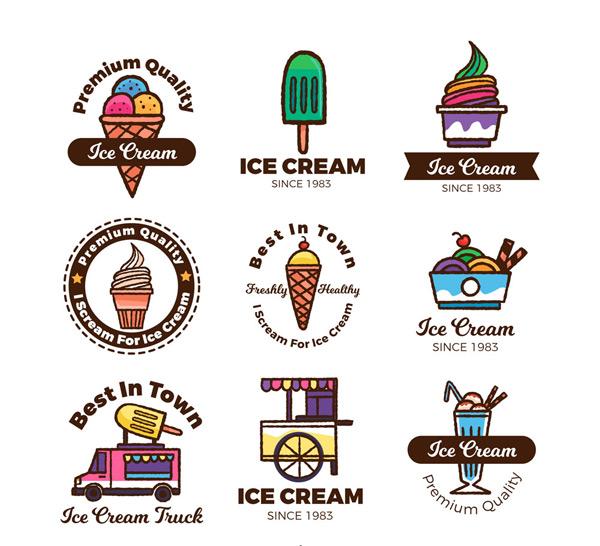 精致冰淇淋标志