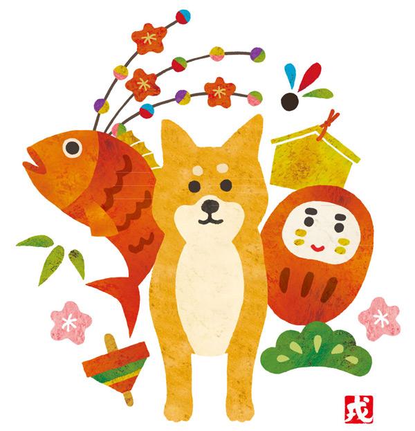 素材分类: 矢量卡通动物所需点数: 0 点 关键词: 水彩绘鱼和柴犬矢量