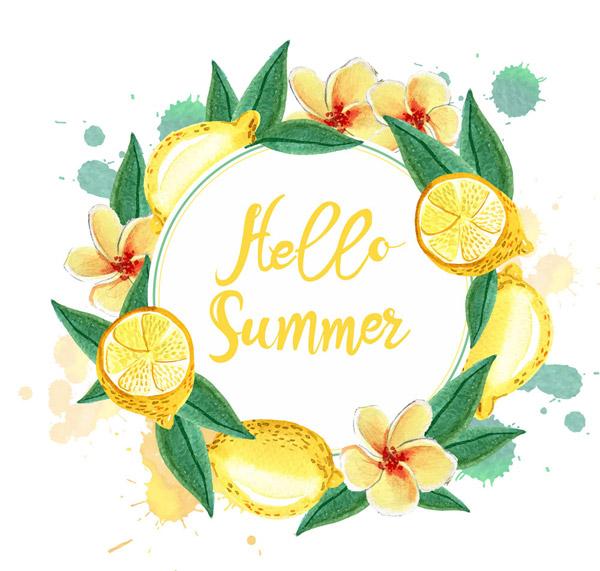 夏季柠檬花环