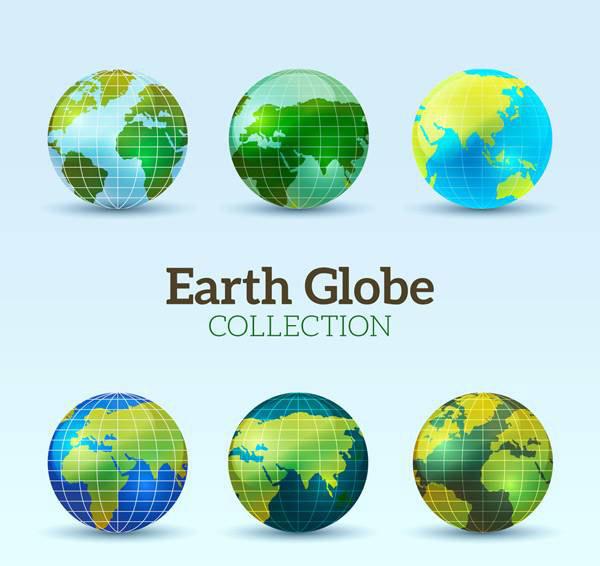 素材分类: 矢量地图所需点数: 0 点 关键词: 创意地球设计,大陆,海洋