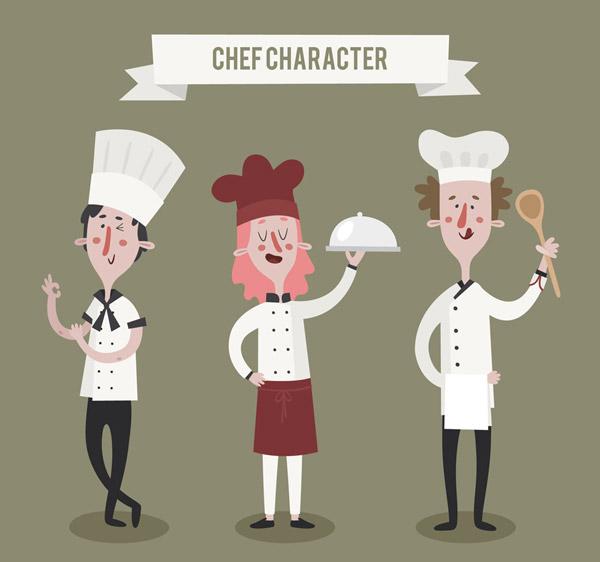 男女厨师矢量