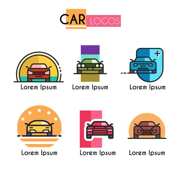彩色车辆标志