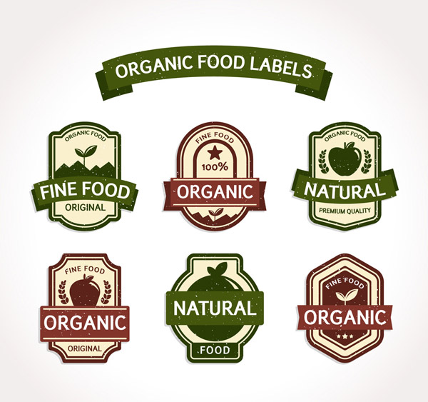复古有机食品标签