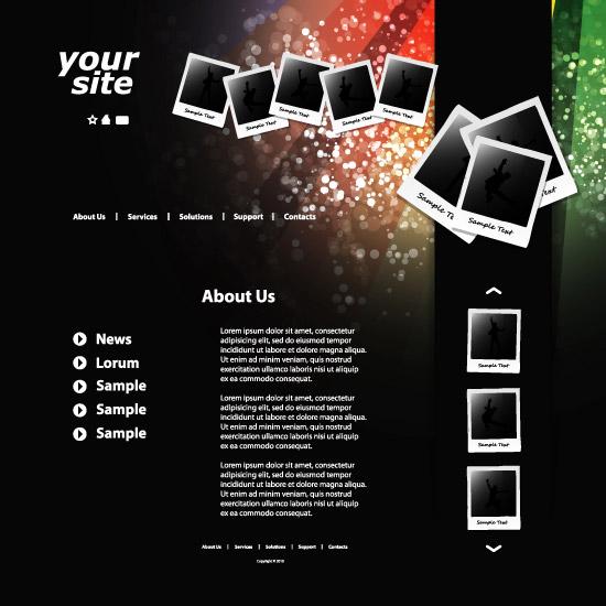 人物相片网站页面