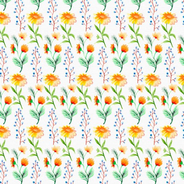 花卉无缝背景