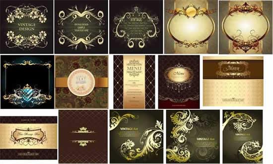 典雅花纹菜谱封面矢量素材,,典雅花纹,菜谱封面,花纹边框,欧式纹样