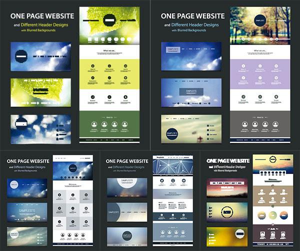 0 点 关键词: 简约大气网页设计模板矢量素材,网站版式设计,网页设计