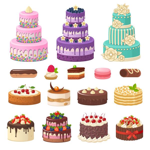 美味蛋糕矢量_素材中国sccnn.com
