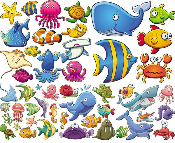 关键词: 卡通可爱海洋动物矢量素材,卡通,可爱,乌贼,章鱼,海星,乌龟图片