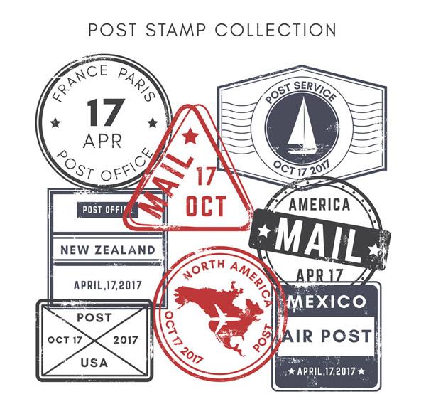 复古邮戳设计