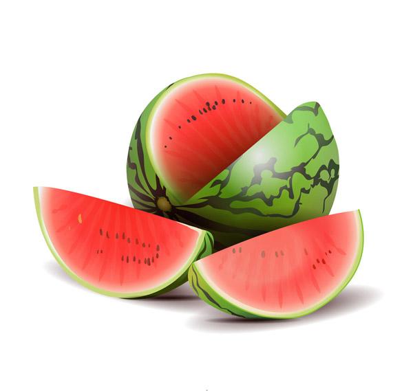 新鲜切开的西瓜